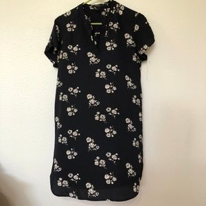 Forever 21 Navy Floral Print Shift Dress M